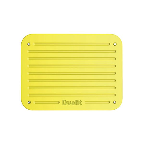 Dualit Architect 2 Slot Canvas Body With Citrus Yellow Panel Toaster