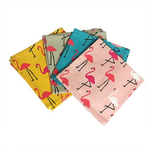Dexam Set of 4 Flamingo Napkins