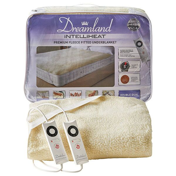 Dreamland Intelliheat Soft Fleece Easy Fitted Underblanket Double Dual Control
