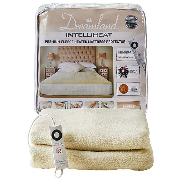 Dreamland Intelliheat Premium Fleece Heated Mattress Protector Double