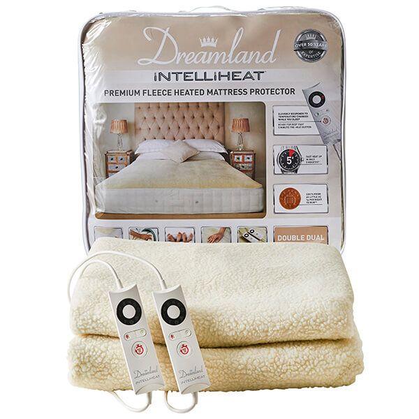 Dreamland Intelliheat Premium Fleece Heated Mattress Protector Double Dual Control