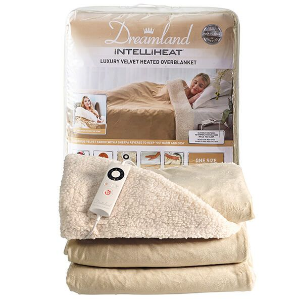 Dreamland Intelliheat Luxury Velvet Heated Blanket