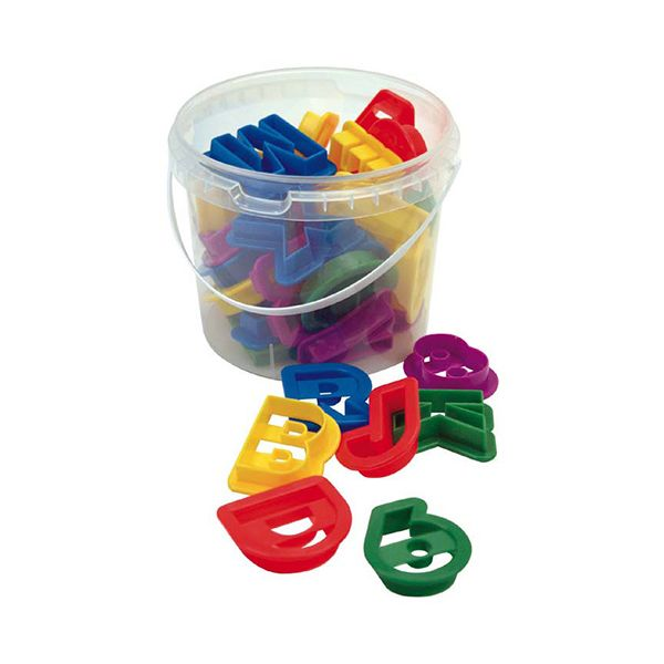 Dexam Plastic Letter & Numbers 36 Piece Cookie Cutter Set