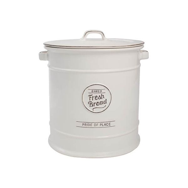 T&G Pride Of Place Bread Crock White