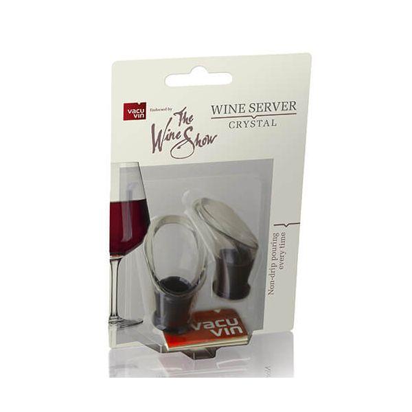 The Wine Show Wine Server Crystal Black Set Of 2