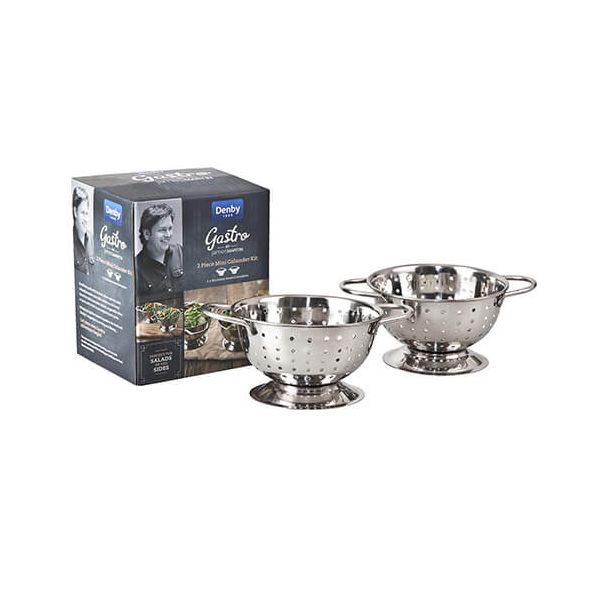 James Martin Denby Gastro 2 Piece Mini Colander Kit