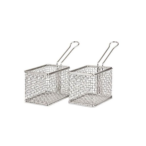 James Martin Denby Gastro 2 Piece Mini Fry Basket Kit
