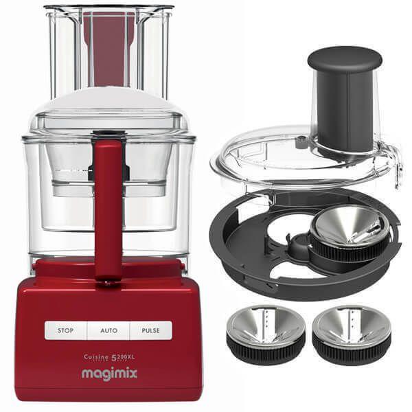 magimix cuisine systeme 5200xl premium red blendermix food processor 18703