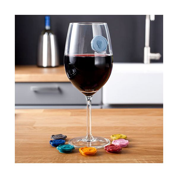 Vacu Vin Glass Markers Classic Grapes Set Of 8