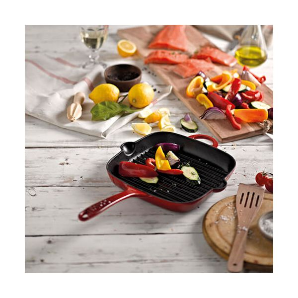 Denby Cast Iron Pomegranate 25cm Griddle Pan