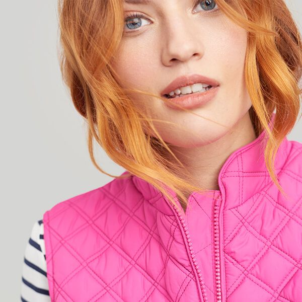 Joules Minx Pink Quilted Gilet