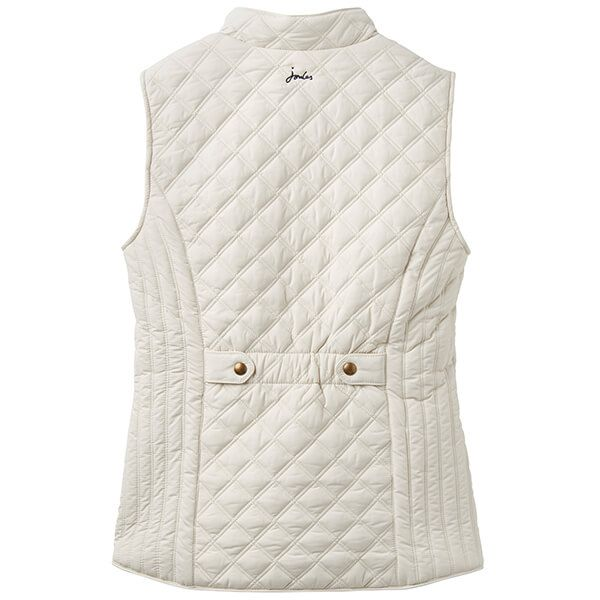 Joules Minx Winter White Quilted Gilet
