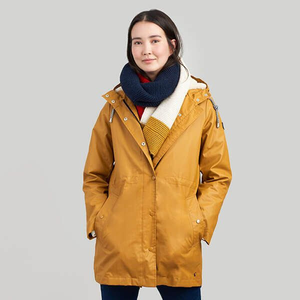 Joules Rainaway Mustard Raincoat