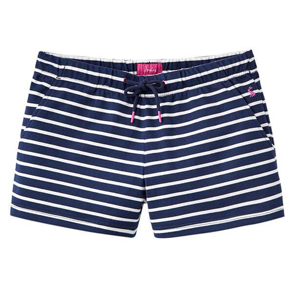 Joules Elle Navy Cream Stripe Jersey Stripe Shorts