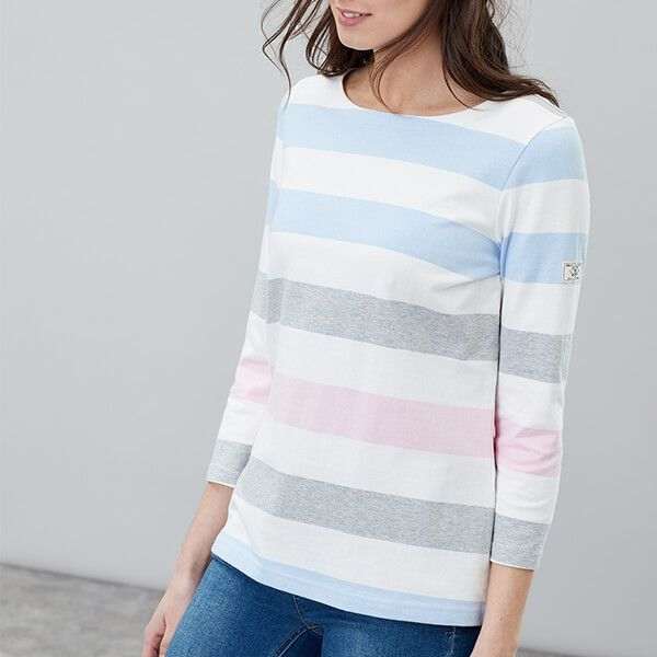 Joules Harbour Blue Stripe Jersey Top