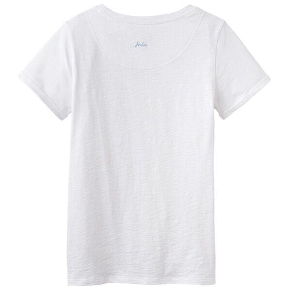 Joules Nessa Bright White Lightweight Jersey T-Shirt