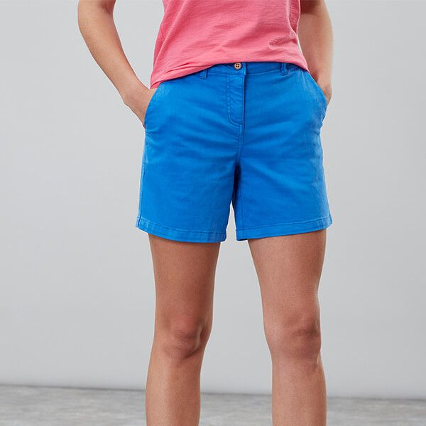 Joules Cruise Mid Blue Mid Thigh Length Chino Shorts