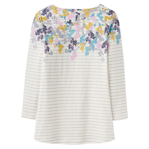 Joules Harbour Print Grey Ditsy Printed Jersey Top