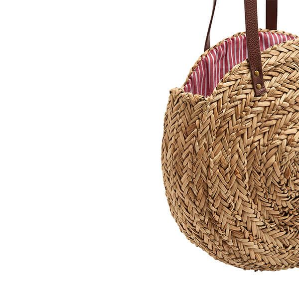 Joules Modena Natural Raffia Round Summer Bag One Size