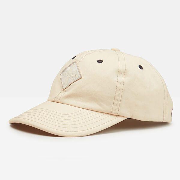 Joules Mens Cream Stepney Canvas Baseball Cap