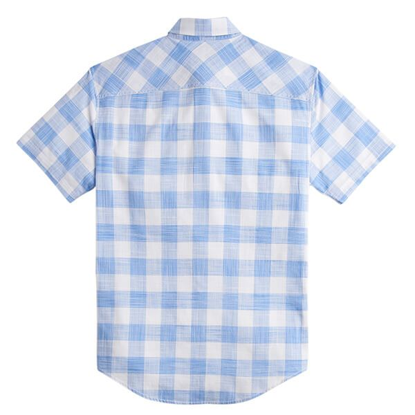 Joules Wilson Blue Check Short Sleeve Classic Fit Check Shirt