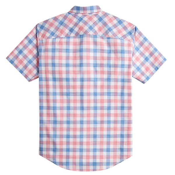 Joules Wilson Pink Check Short Sleeve Classic Fit Check Shirt
