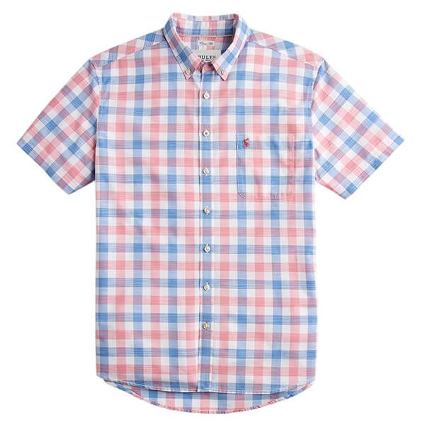 7c3936f6 Joules Wilson Pink Check Short Sleeve Classic Fit Check Shirt | Harts of  Stur