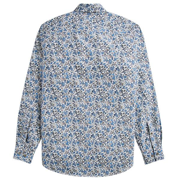 Joules Invitation White Ditsy Long Sleeve Classic Fit Printed Shirt