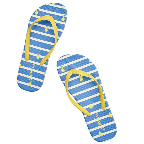 Joules Womens Blue Pear Stripe Flip Flops