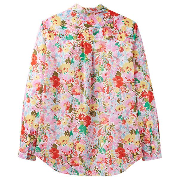 Joules Lucie White Floral Meadow Printed Woven Shirt