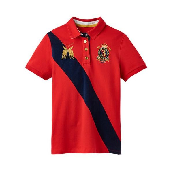 Joules Claredon Red Ladies Polo Shirt