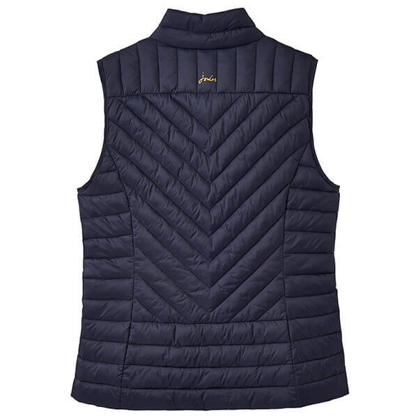 Joules Brindley Marine Navy Chevron Quilted Gilet
