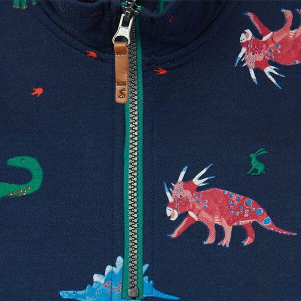Joules Dale Dark Blue Dinos Printed Overhead Sweat