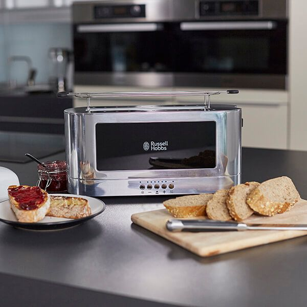 Russell Hobbs Elegance Glass Side Toaster