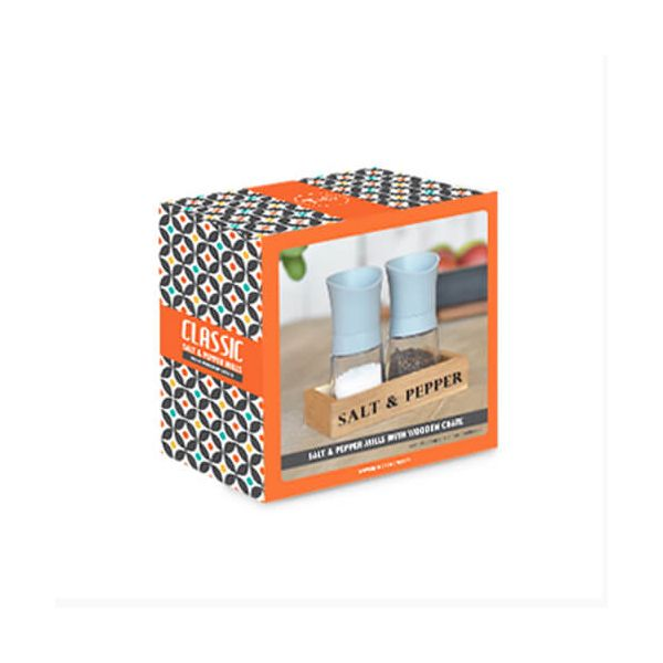T&G Manhattan Grey Mill Gift Set With Wooden Crate