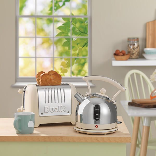 Dualit Lite 2 Slot Toaster Cream Gloss