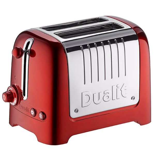 Dualit Lite 2 Slot Toaster Metallic Red with FREE Gift