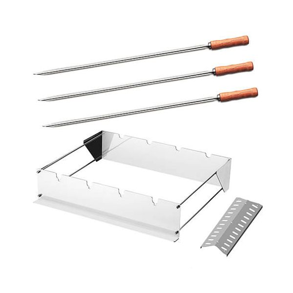 Tramontina BBQ Skewer Support, Square & Skewers Set