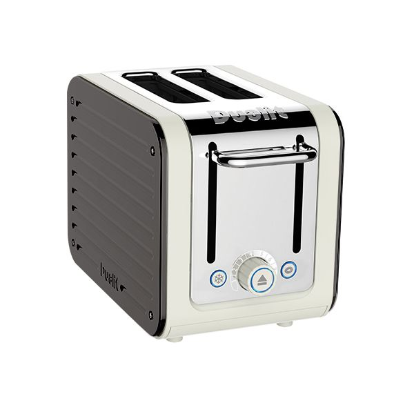 Dualit Architect 2 Slot Canvas Body With Cobble Grey Panel Toaster