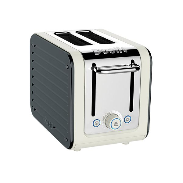 Dualit Architect 2 Slot Canvas Body With Metallic Charcoal Panel Toaster