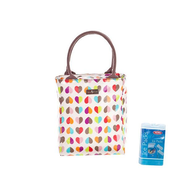 Navigate Beau & Elliot Confetti Insulated Lunch Tote FREE Thermos Set Of Two Ice Packs 200g