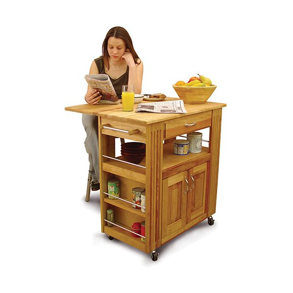 Heart Of The Kitchen Island Catskill Kitchen Trolley with Drop Leaf