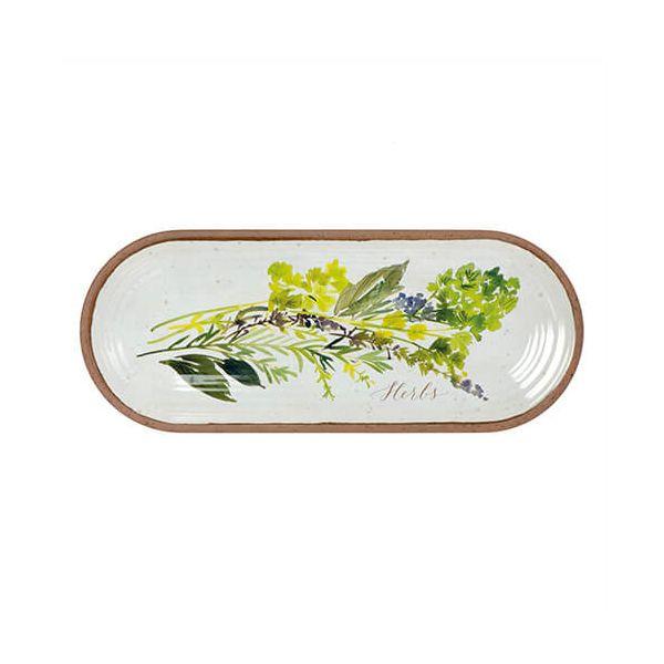 Epicurean Melamine Alfresco Oval Appetiser Tray 38 x 15cm
