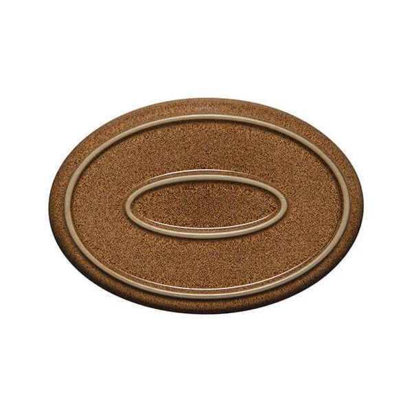Denby Studio Craft Chestnut Medium Oval Tray
