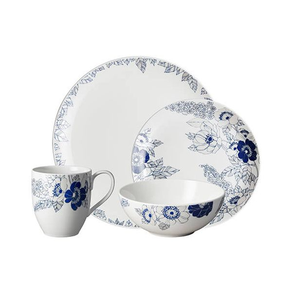 Denby Monsoon Fleur 16 Piece Tableware Set