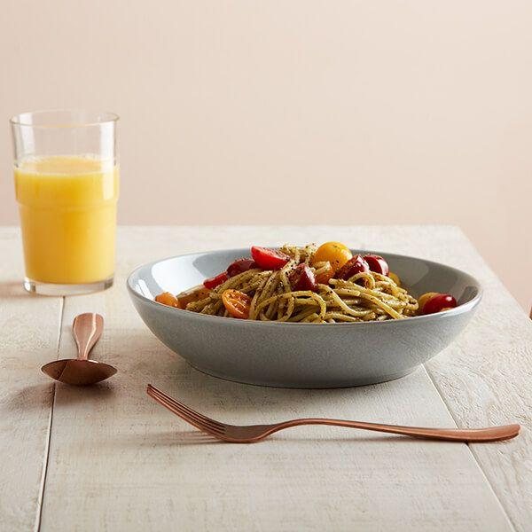 Denby Intro Soft Grey 4 Piece Pasta Bowl Set