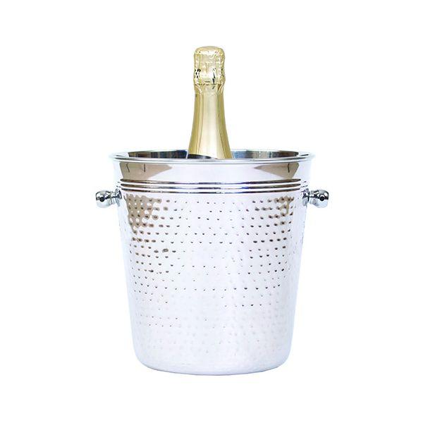 Epicurean Hammered Steel Champagne Bucket
