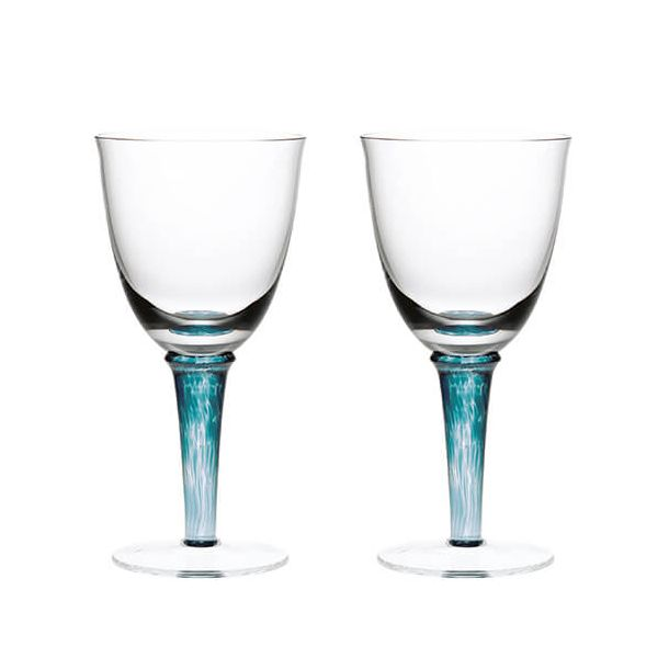Denby Greenwich / Regency Green Pack Of 2 Red Wine Glasses