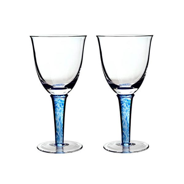 Denby Imperial Blue White Wine Glass Pack Of 2
