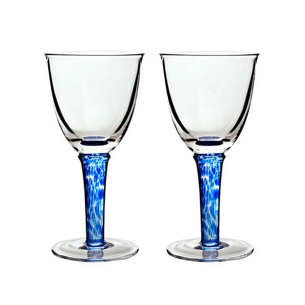 Denby Imperial Blue Red Wine Glass Pack Of 2